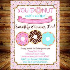 Donut Birthday Invitation Card Donut Birthday Party Invite Printable