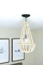 elegant wood bead chandelier n7956676 wooden bead chandelier how to make a wood bead chandelier with