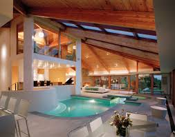 indoor pool of Contemporary Lookout House