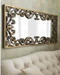 entranching decorative wall mirror on ornate gold scroll large xl 68 759526404280