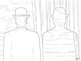 Small Picture Decalcomania By Rene Magritte Painting Coloring Page Art