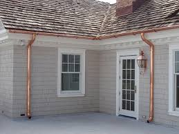 faux copper gutters. Interesting Gutters For Hill Homeowners Copper Downspout Theft Is Too Common In Faux Copper Gutters O