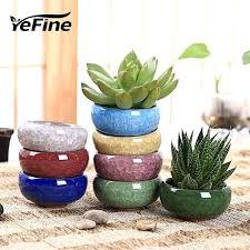 brand home decoration accessories decorative flower pots for juicy plants ceramic flowerpots small bonsai pot plant small ceramic pots plant