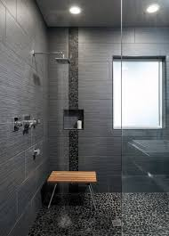black shower floor tile inspiration