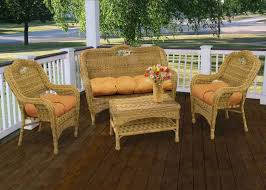 house good looking wicker furniture set 19 dazzling patio sets on 22 light brown rectangle