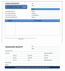 donation receipt forms donation receipt