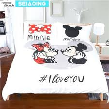 mickey mouse bedding sets cartoon comforter covers kid twin full queen king size and minnie kissing