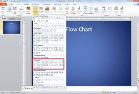 Click Chart Diagram How To Create Flow Chart Diagram In Powerpoint 2010