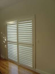 sliding glass door horizontal blinds