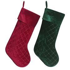 red velvet christmas stockings. Interesting Red Online Shop New Arrivel Set Of 2 Pcs Red U0026 Green Velvet Stocking Diamond  Quilted Embroidery Decoration Socks Christmas Stocking P4635  Aliexpress Mobile To Stockings
