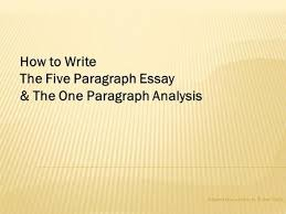 the scarlet ibis essay outline ppt video online  the five paragraph essay the one paragraph analysis