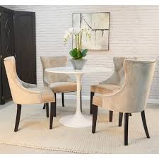 enzo 36 inch round marble top dining table white top with white base