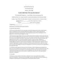 with material construction agreement need a subcontractor agreement 39 free templates here