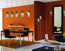 Orange Dining Room Chairs Dining Room Design Ideas With Blue Wall Color And Picture Frmaes