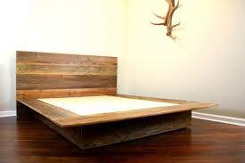 Interesting Wooden Platform Bed Frames with Reclaimed Wood Platform ...
