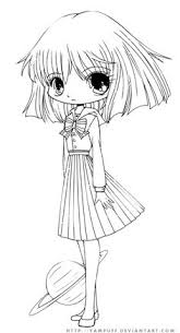 Small Picture Coloring Pages of Chibi omalovnky Pinterest Chibi Free