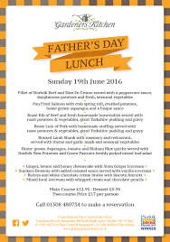 Gardeners Kitchen Fathers Day Sunday Lunch