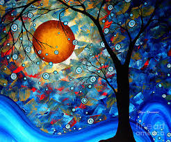 contemporary art paintings contemporary modern art original abstract landscape painting blue