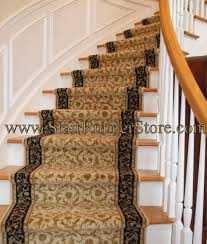 Curved Staircase Stair Runner Installation traditional-staircase