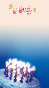 Happy Birthday Background Images Small Fresh Blue Background Happy Birthday Background Material H5