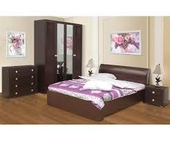 <b>Набор мебели для</b> спальни Мона компл. 1 венге/кожзам Глянец ...