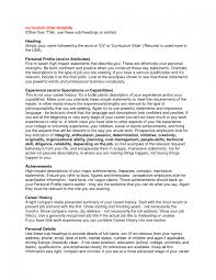 How To Write A Profile For Resume Templates Good Personal On