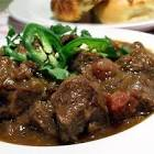 beef  green chili and tomato stew