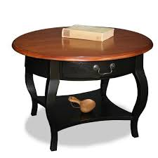 Captivating Brown Cherry/ Slate Solid Wood Coffee Table