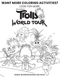 They present happy, small creatures known from the movie on a set of 40 beautiful printables for kids. Trolls World Tour Coloring Pages Coloring Home