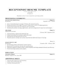 Medical Receptionist Resume Sample Fascinating Office Receptionist Resume Medical Template Sample Secretary Cv