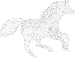 Horse Coloring Pages For Adults Free Printable Color Pages