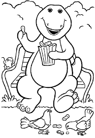 Small Picture Barney And Friends Coloring Pages Barney Coloring Pages 18729