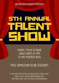 Talent Show Poster Designs Talent Show Invitation Portrait Templates By Canva