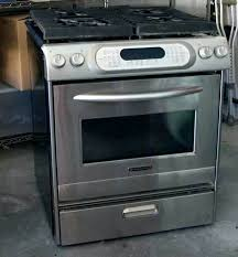 kitchen aid slide in range ranges review slide in gas range stainless steel gas range reviews