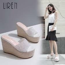 liren 2019 summer pu gladiator sandals transparent glass plastic strap thin heels lace up open toe shoes