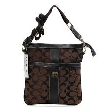 ... Coach Legacy Swingpack In Signature Medium Coffee Crossbody Bags AWQ ...