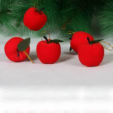 Großhandel Weihnachten Rote äpfel Christbaumschmuck Hängen Ornamente Xmas Party Decor Eine Tasche Auf Lager Von Zealweb 035 Auf Dedhgatecom