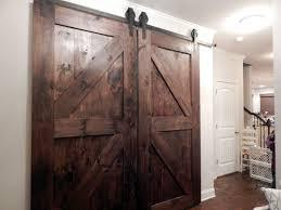 atlanta custom interior barn doors double z style finished in dark walnut