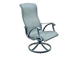 cambridge brown wicker swivel outdoor rocking chair with blue cushions club patio chairs furniture