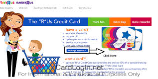 r us credit card manage account