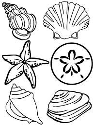 Small Picture Complete Sea Shells Family Free Coloring Page Download Print