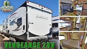 2017 forest river vengeance 28v v128 toy hauler bunk beds trailer rv dealer s colorado