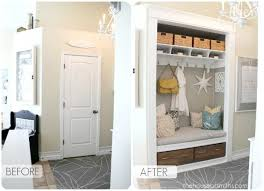 this is amazing! closet turned into a functional entryway nook. ah-mazing!