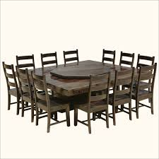 modern pioneer solid wood lazy susan pedestal dining table chair set