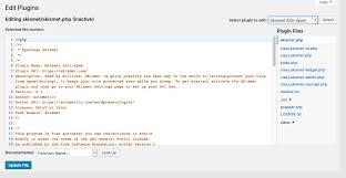 Plugins Editor Screen   WordPress.org