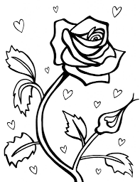 Small Picture Coloring Pages For Kids Roses 43542 plaaco