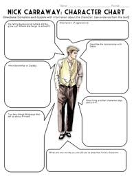 The Great Gatsby Character Chart Worksheet The Great Gatsby Characterization Activity Worksheets Bell Ringers Quizzes