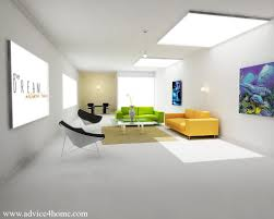 3D House Interior Design Concept in living room