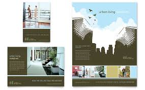 real estate ad urban real estate flyer ad template design