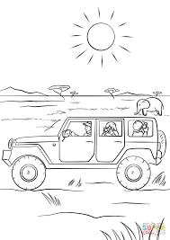 Small Picture Safari Jeep coloring page Free Printable Coloring Pages